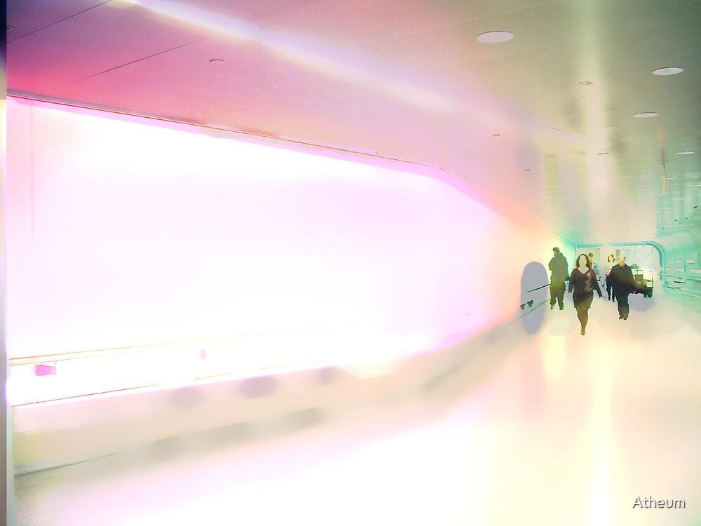 Pink Hospital Hallway by Atheum