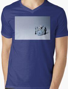 Drumming up a storm Mens V-Neck T-Shirt
