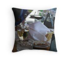white wine Throw Pillow