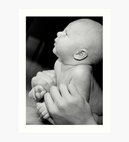 Loving hands to hold Art Print