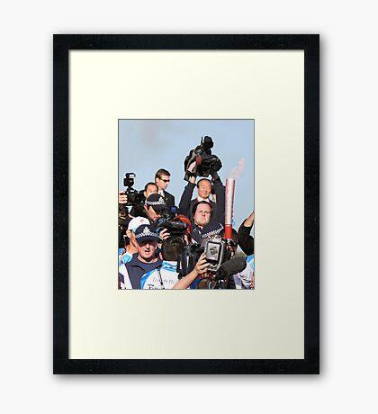Media Scrum 2 Framed Print