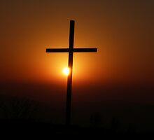 Cross Sunrise by Mark D Battersby