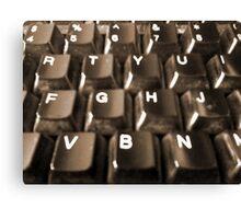 Dusty Keyboard Canvas Print