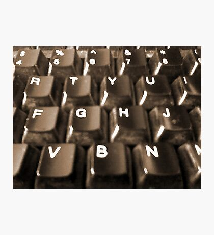 Dusty Keyboard Photographic Print