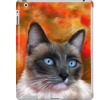 Fire and Ice Siamese Cat Painting iPad Case/Skin