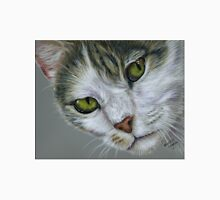 Tara - White and Tabby Cat Painting Unisex T-Shirt