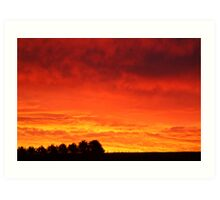 Barrabool Hills Rural Sunset Art Print