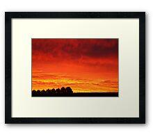 Barrabool Hills Rural Sunset Framed Print