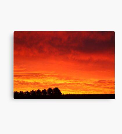 Barrabool Hills Rural Sunset Canvas Print