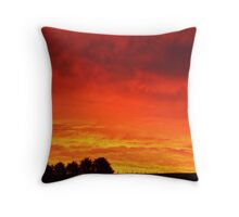 Barrabool Hills Rural Sunset Throw Pillow