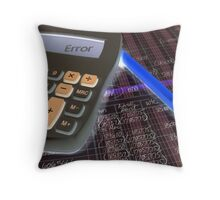 Number Crunching Throw Pillow