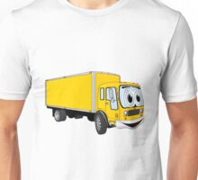 Large Yellow Delivery Truck Cartoon Unisex T-Shirt