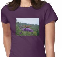 A Great Spangled Fritillary on a Butterfly Bush - photo 1 Womens Fitted T-Shirt