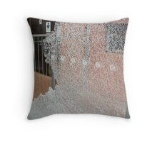 vandalism - but the result is pretty Throw Pillow