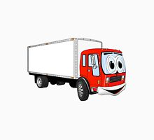 Large Red White Delivery Truck Cartoon Unisex T-Shirt