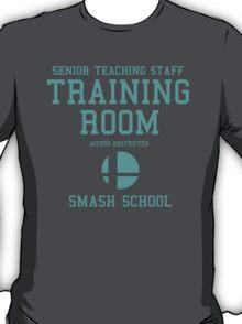 Smash School Training Room (Cyan) T-Shirt