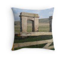 some ruins at Stanley, Tasmania Throw Pillow