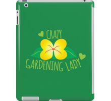Crazy Gardening Lady iPad Case/Skin