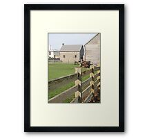 yards at Highfield House, Stanley Framed Print
