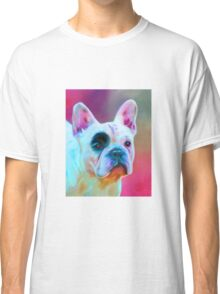 Paris French Bulldog Portrait Painting Classic T-Shirt