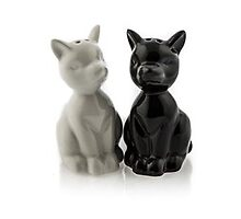 Ceramic Salt & Pepper Set - Cats by etailme