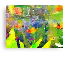 Abstract Goldfish Aquarium Watercolor 2 Canvas Print