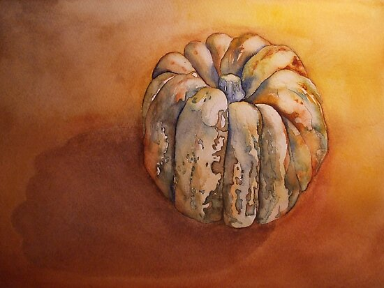 Pumpkin Before Soup  'Still Life' © Patricia Vannucci 2008 by PERUGINA