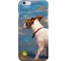 Jack Russell Terrier at the Beach iPhone Case/Skin