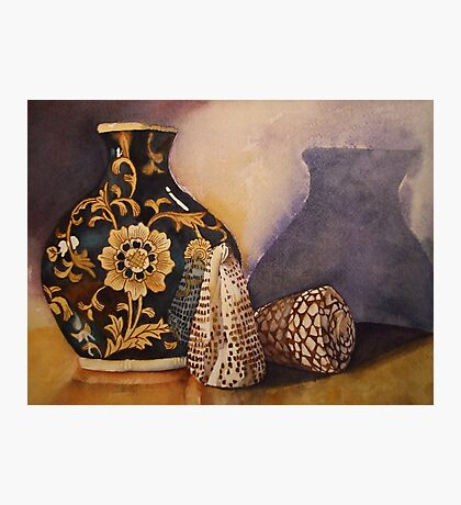 The Black Vintage Vase 'Still Life' © Patricia Vannucci 2008 Photographic Print