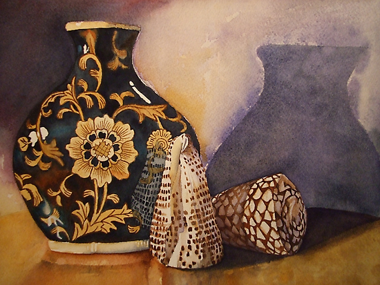 The Black Vintage Vase 'Still Life' © Patricia Vannucci 2008 by PERUGINA
