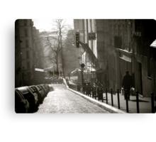 Montmartre Stroll Canvas Print