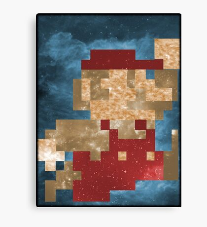 Cosmic Mario Canvas Print