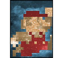 Cosmic Mario Photographic Print