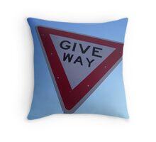 Give Way Throw Pillow