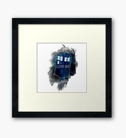 Doctor Who - LIGHT COLORS - Framed Print