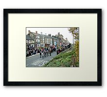 Rememberance Day,  Loftus, England Framed Print