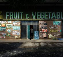 fruit and vegetables, country Australia by Matt Mawson