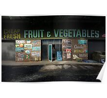 fruit and vegetables, country Australia Poster