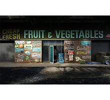 fruit and vegetables, country Australia Photographic Print