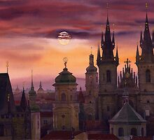 Prague City of hundres spiers by Yuriy Shevchuk