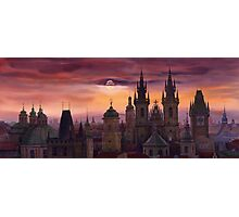 Prague City of hundres spiers Photographic Print
