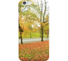 Glowing road in Autumn colors iPhone Case/Skin