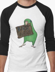 Bird Nerd (Green) Men's Baseball ¾ T-Shirt