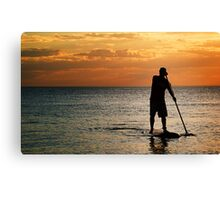 Paddle Boarder Canvas Print