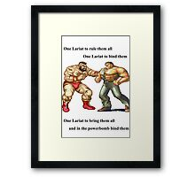 Zangief and Haggar, powerbombs and lariats Framed Print