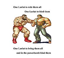 Zangief and Haggar, powerbombs and lariats Photographic Print