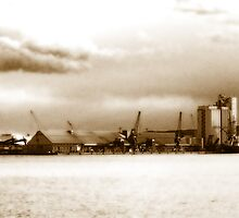 Seaport of memories (sepia) by Alessia Ghisi Migliari