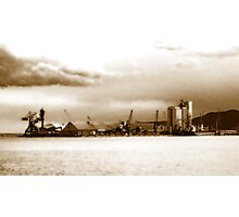 Seaport of memories (sepia) Photographic Print