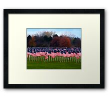 For the Soldiers Framed Print