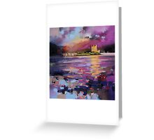 Evening Light at Eilean Donan Castle Greeting Card